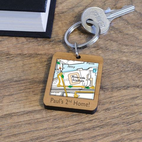 Personalised Middlesbrough Riverside Stadium Map Keyring