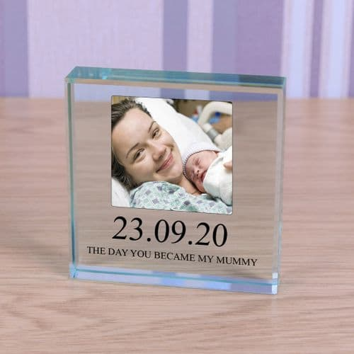 Personalised New Mummy Glass Token With Photo