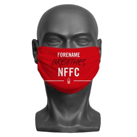 Personalised Nottingham Forest FC Breathes Adult Face Covering / Mask