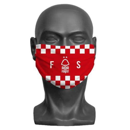 Personalised Nottingham Forest FC Initials Adult Face Covering / Mask