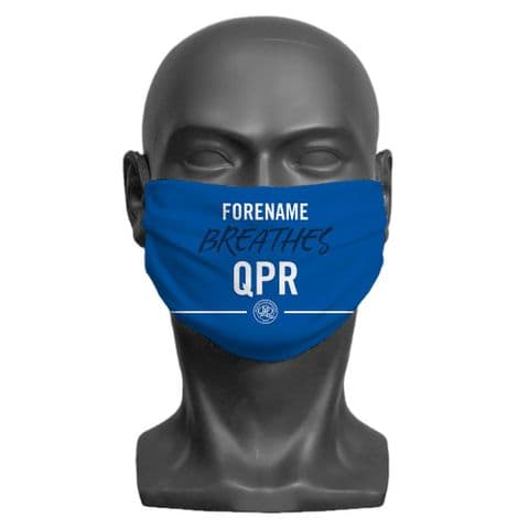 Personalised Queens Park Rangers FC Breathes Adult Face Covering / Mask