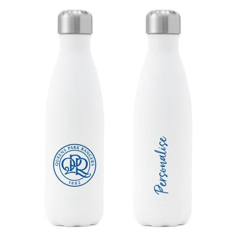 Personalised Queens Park Rangers FC Crest Insulated Water Drink Bottle