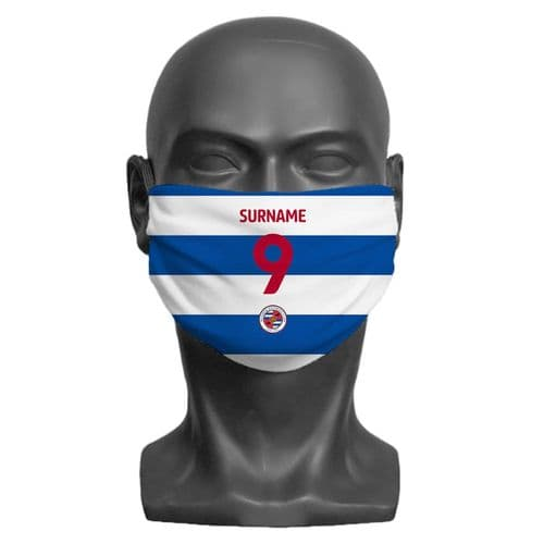 Personalised Reading FC Back of Shirt Adult Face Covering / Mask