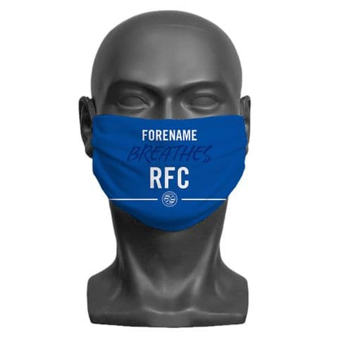Personalised Reading FC Breathes Adult Face Covering / Mask