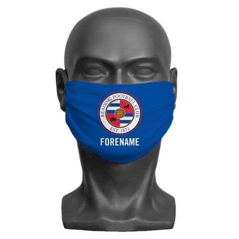 Personalised Reading FC Crest Adult Face Covering / Mask