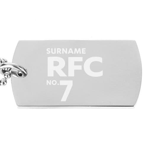 Personalised Reading FC Number Dog Tag Pendant