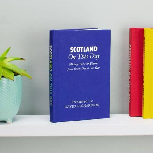 Personalised Scotland On This Day Book