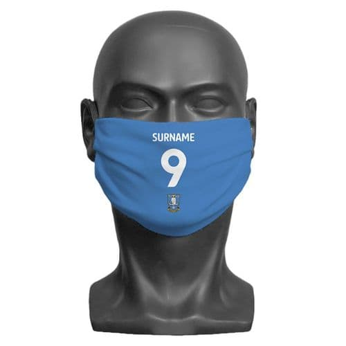 Personalised Sheffield Wednesday FC Back of Shirt Adult Face Covering / Mask
