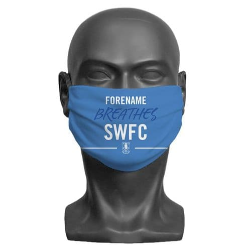Personalised Sheffield Wednesday FC Breathes Adult Face Covering / Mask