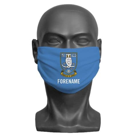 Personalised Sheffield Wednesday FC Crest Adult Face Covering / Mask