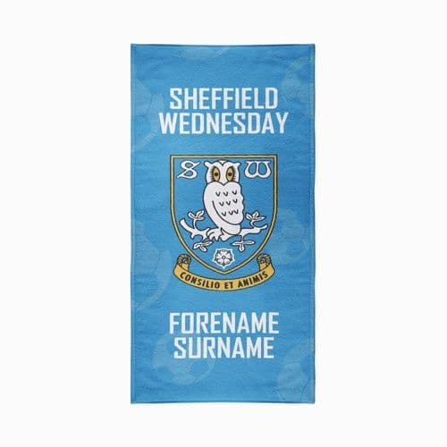 Personalised Sheffield Wednesday FC Crest Design Towel