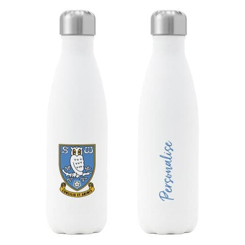 Personalised Sheffield Wednesday FC Crest Insulated Water Drink Bottle