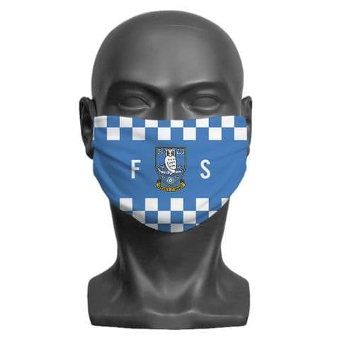 Personalised Sheffield Wednesday FC Initials Adult Face Covering / Mask
