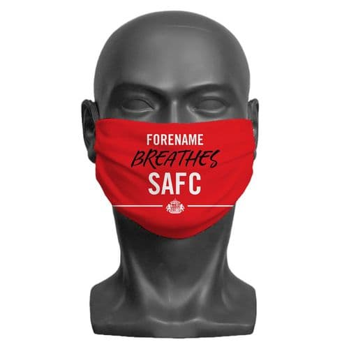 Personalised Sunderland AFC Breathes Adult Face Covering / Mask
