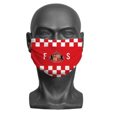 Personalised Sunderland AFC Initials Adult Face Covering / Mask