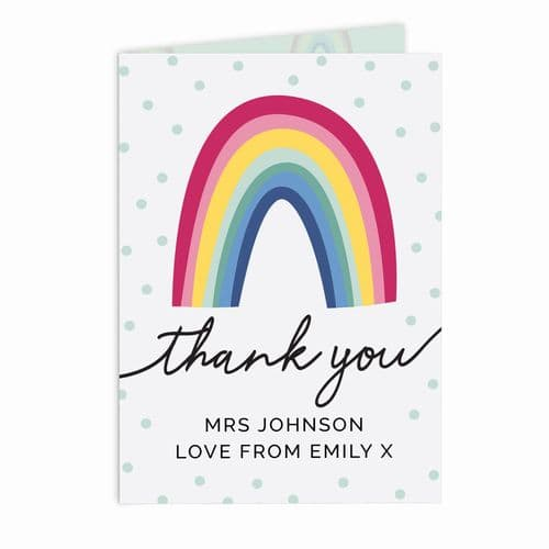 Personalised Thank You Rainbow Card