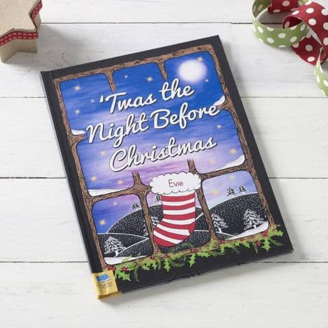 Personalised Twas The Night Before Christmas Story Book