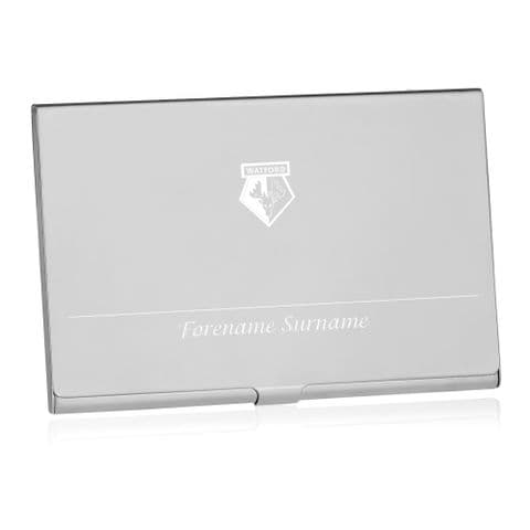 Personalised Watford FC Executive Business Card Holder