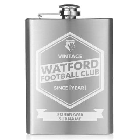Personalised Watford FC Vintage Hip Flask