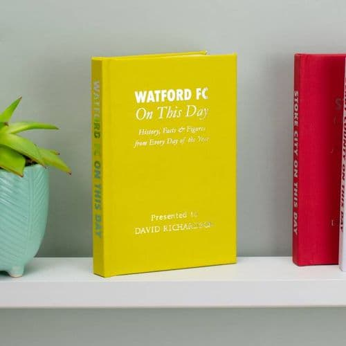 Personalised Watford On This Day Book