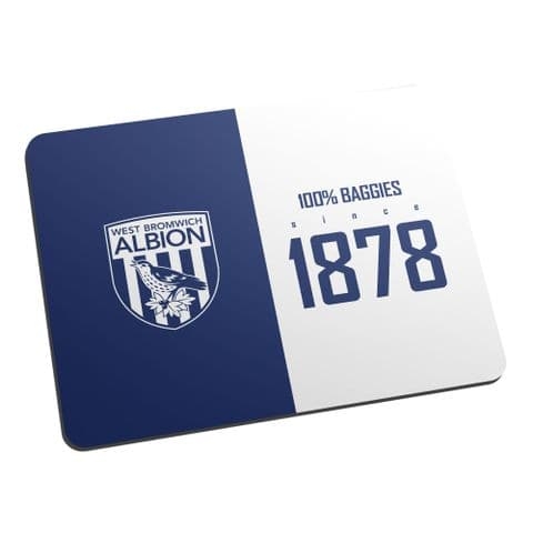 Personalised West Bromwich Albion FC 100 Percent Mouse Mat