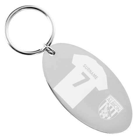 Personalised West Bromwich Albion FC Shirt Keyring
