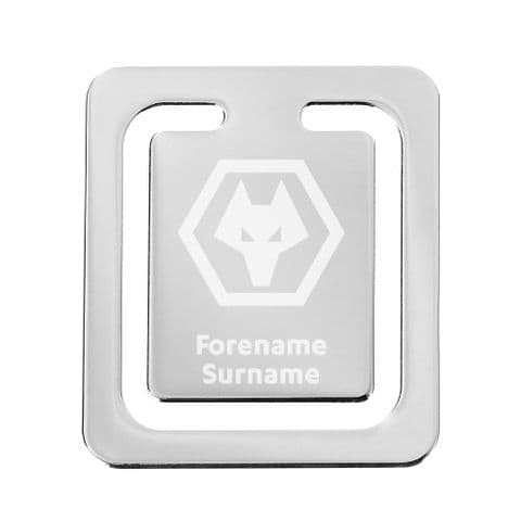 Personalised Wolves Crest Bookmark
