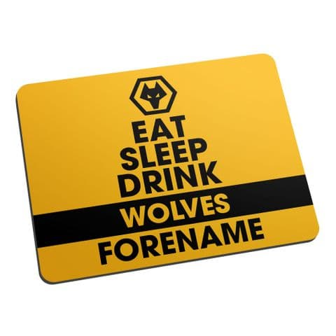 Personalised Wolves Eat Sleep Drink Mouse Mat
