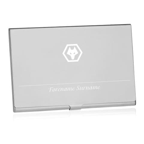 Personalised Wolves Executive Business Card Holder
