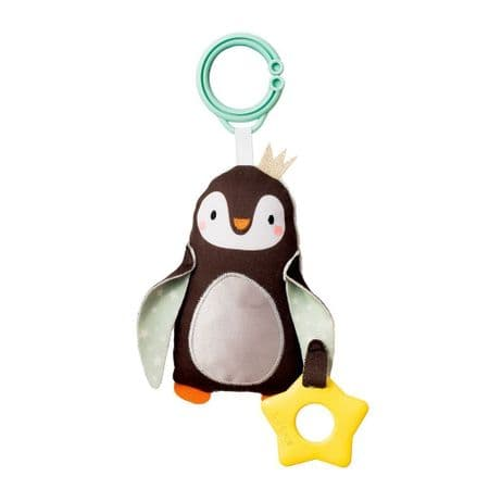 Penguin teether & soft bell