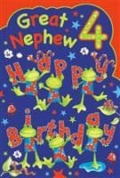 Birthday Card - 4 Year Old Great Nephew