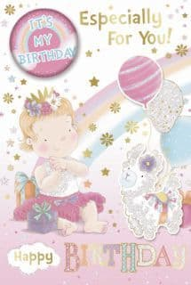 Badge Birthday Card - Young Female