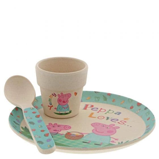 Peppa Pig Bamboo Egg Cup Breakfast Set