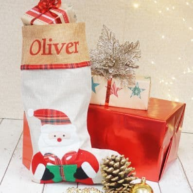 Personalised Hessian Santa Stocking