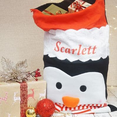 Personalised Penguin Sack
