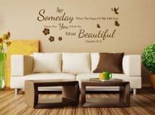 """""""When The Pages Of My Life..."""" Wall Art Quote, Decal, Modern Transfer Sticker."""