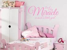 "Child's Wall Quote ""Such a big miracle.."" Wall Art Sticker, Vinyl Decal,Transfer"