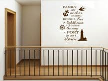 "Family Wall Quote ""Family- An Anchor.."" Wall Art Sticker, Vinyl Decal, Transfer."