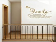 "Family Wall Quote ""Our Family"" Wall Art Sticker,  Vinyl Transfer, Decal.."