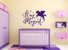 """Fantasy """"Stay Magical"""" wall art sticker, quote, vinyl transfer"""
