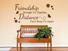 """Friendship Wall Quote """"Friendship brought us.."""" Wall Art Sticker, Transfer"""