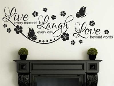 Live Laugh Love Wall Quote Wall Sticker Vinyl Wall Art Home Decal Vinyl Transfer