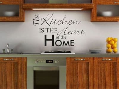 The Kitchen is the Heart of the Home - Wall Art Sticker, Modern Vinyl Transfer