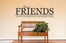 """Wall Art Quote """"Friends are hard to find..."""" Wall Sticker, Wall Decal"""