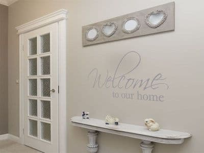 Wall Art Sticker, Welcome To Our Home..., Wall Art Quote, Decal, Modern Transfer