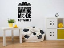 """Wall Quote """"Do Not Disturb..."""" Funny, Gaming Sticker Modern Transfer PVC Decal"""