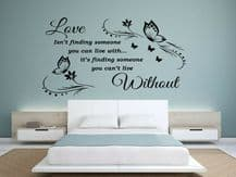 """Wall Quote """"Love Isn't finding..."""" Sticker Modern Transfer PVC Decal Decor"""