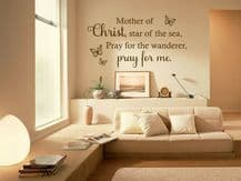 """Wall Quote """"Mother of Christ"""" Religious Homely Sticker Decal Decor Transfer"""