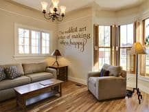 """wall Quote - """"The noblest of arts..."""" Wall Art Sticker, Modern Decal, Sticker"""