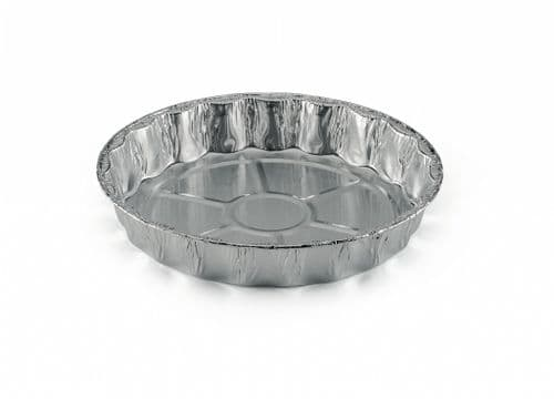 170mm Aluminium Foil Flan/ Tart/ Tartlet Mould (Lanced) - Recyclable